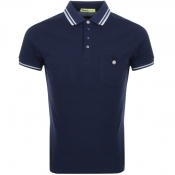 Versace Jeans Pocket Polo T Shirt Navy