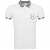 Versace Jeans Tipped Polo T Shirt White