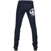 Love Moschino Slim Fit Peace Jeans Blue