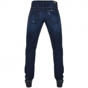 Love Moschino Slim Fit Distressed Jeans Blue