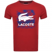 Lacoste Sport Ultra Dry Logo T Shirt Red