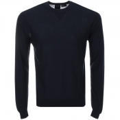 Armani Exchange Crew Neck Jumper Navy