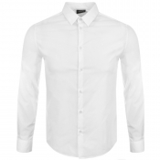 Armani Jeans Long Sleeved Slim Fit Shirt White