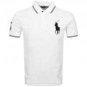 Ralph Lauren Tipped Polo T Shirt White