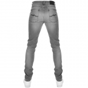Nudie Jeans Lean Dean Slim Tapered Jeans Grey
