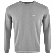 BOSS Green Rime Knitted Jumper Grey