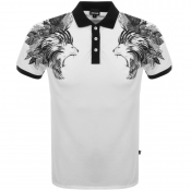 Just Cavalli Lion Polo T Shirt White