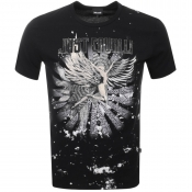 Just Cavalli Graphic Logo T Shirt Black