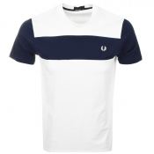 Fred Perry Textured Panel T Shirt White