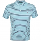 Ralph Lauren Striped Polo T Shirt Blue