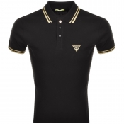 Versace Jeans Tipped Polo T Shirt Black