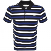 Lacoste Sport Striped Polo T Shirt Black