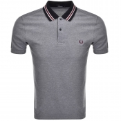Fred Perry Oxford Bomber Polo T Shirt Navy