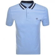 Fred Perry Oxford Bomber Polo T Shirt Blue