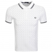 Fred Perry Square Print Polo T Shirt White
