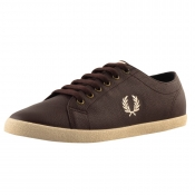 Fred Perry Kingston Leather Scotchgrain Shoe Brown