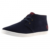 Fred Perry Byron Mid Suede Shoes Blue