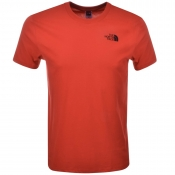 The North Face Simple Dome T Shirt Red