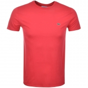 Lacoste Crew Neck T Shirt Pink