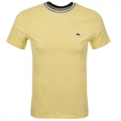Lacoste Crew Neck T Shirt Yellow