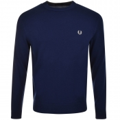 Fred Perry Crew Neck Jumper Navy