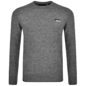 Superdry Orange Label Knit Jumper Grey