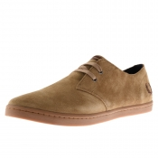 Fred Perry Byron Low Suede Shoes Brown