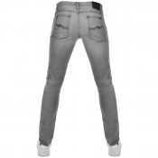 Nudie Jeans Long John Super Tight Fit Jeans Grey