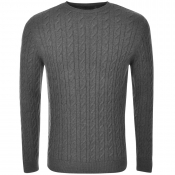 Barbour Cashmere Cable Knit Crew Neck Jumper Grey