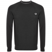 Fred Perry Tipped Crew Neck Jumper Grey