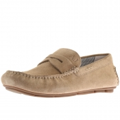Armani Jeans Logo Loafer Shoes Beige