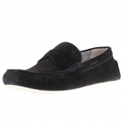 Armani Jeans Logo Loafer Shoes Navy
