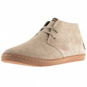 Fred Perry Byron Mid Suede Shoes Beige