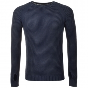 Replay Knitted Jumper Blue