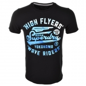 Superdry High Flyers Wave T Shirt Navy