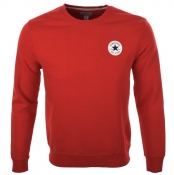 Converse All Star Logo Crew Neck Jumper Red