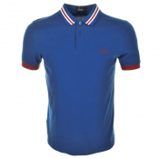 Fred Perry Bomber Stripe Collar Polo T Shirt Blue