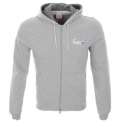Lacoste Live Hooded Zip Jumper Grey