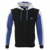 Lacoste Sport Colour Block Hooded Jumper Black