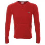 Lacoste Live Cotton Knit Jumper Red