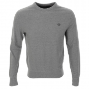 Fred Perry Crew Neck Pique Jumper Grey