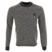 Fred Perry Donegal Knit Crew Neck Jumper Grey