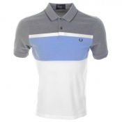 Fred Perry Oxford Stripe Polo T Shirt Blue