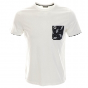 Fred Perry X Drakes Pocket T Shirt White