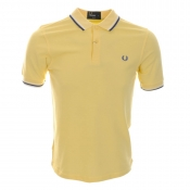Fred Perry Slim Twin Tipped Polo T Shirt Yellow