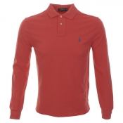 Ralph Lauren Custom Fit Polo T Shirt Red