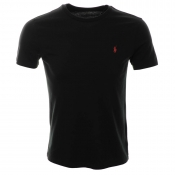 Ralph Lauren Custom Fit Crew Neck T Shirt Black