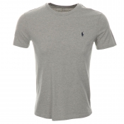 Ralph Lauren Custom Fit Crew Neck T Shirt Grey