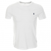 Ralph Lauren Custom Fit Crew Neck T Shirt White