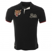 Ralph Lauren Tiger Patch Polo T Shirt Black